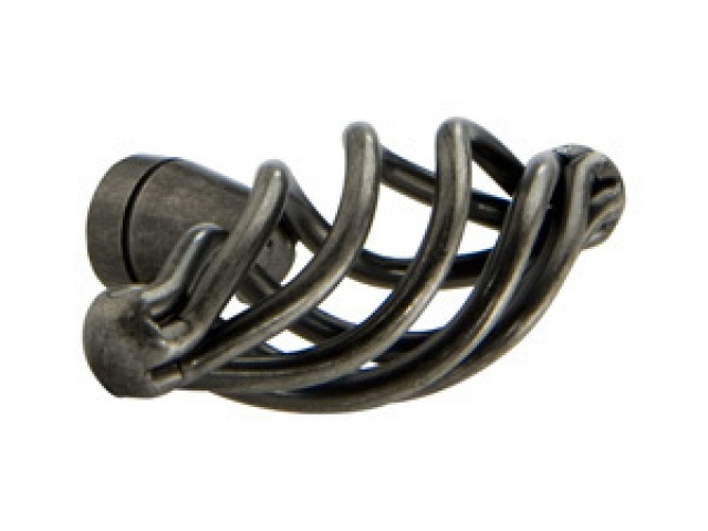 Antique Pewter Braided Knob