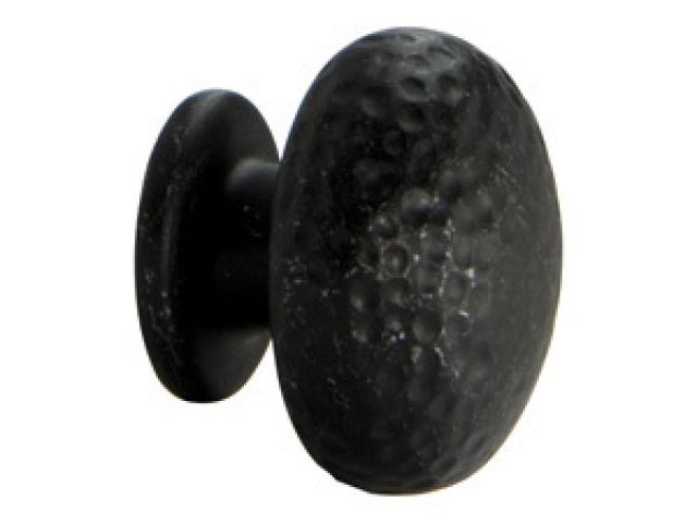 Tumbled Dark Gunmetal Round Knob