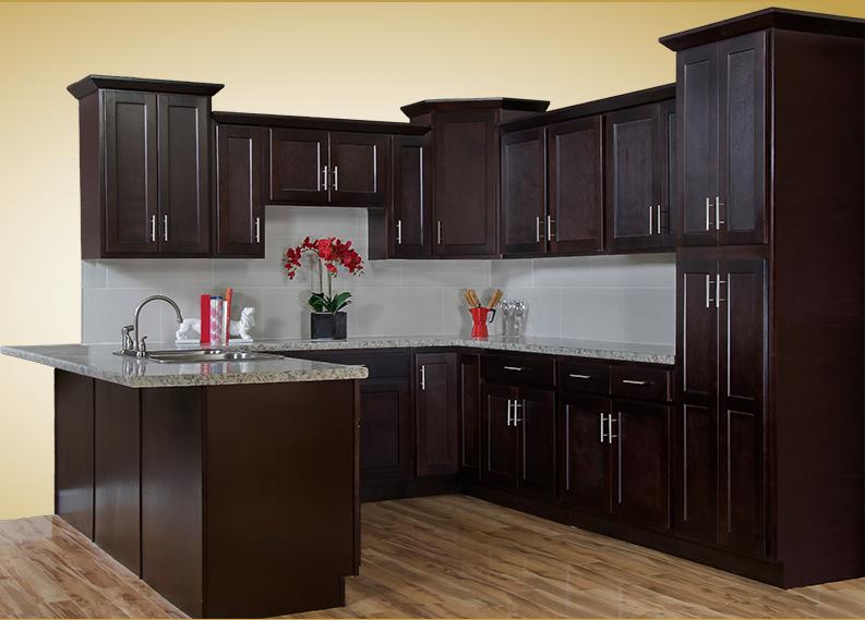Shaker Espresso. Our Shaker Espresso kitchen cabinets ... & Walnut Ridge Cabinetry Shaker Espresso Kitchen Cabinet Company ...