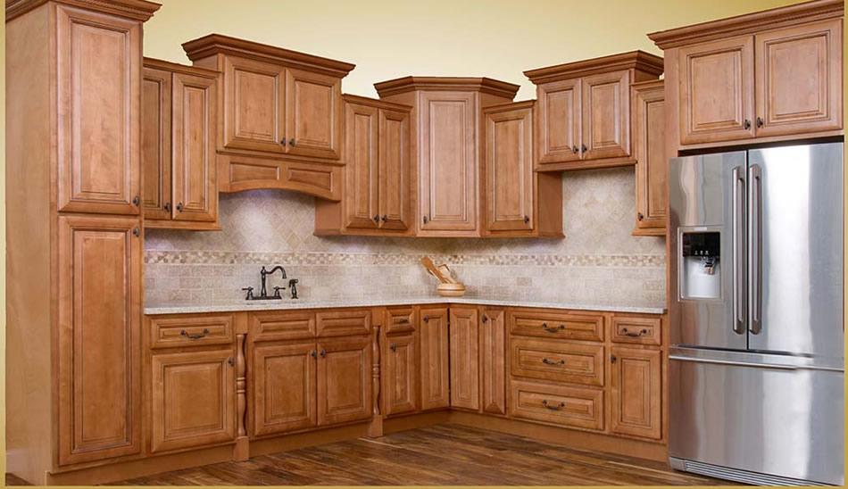 Walnut Ridge Cabinetry Savannah Sienna Glaze Kitchen Cabinet ...